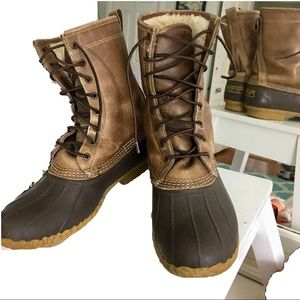 ll bean duck boots shearling lined sized 11